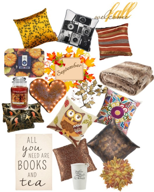 Collage of things I like for autumn.