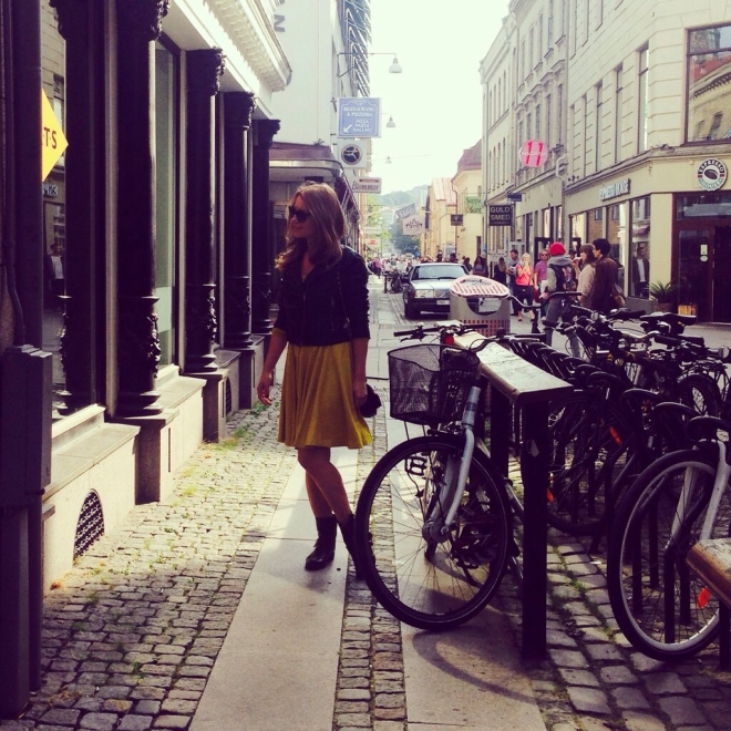 Girl on the streets of gothenburg