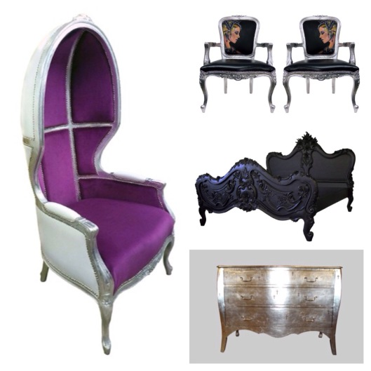 Customized chairs table and bed by Jimmie Martin